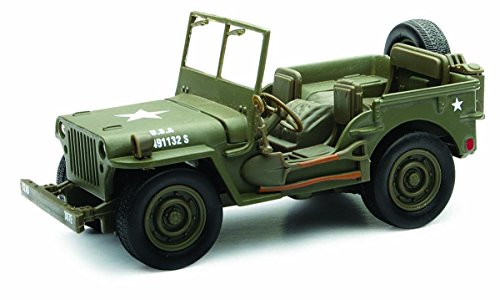 32 Scale Diecast Model (New Ray Jeep Willys 1:32 Scale Die Cast Model Car WW II Military US Army Vehicle)