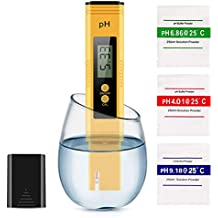 WeekStar Digital, 0.01 High Accuracy Pocket Size Meter/PH 0-14.0 Measuring Range, Quality Tester for Household Drinking Water, Swimming Pools, Aquariums, YELLOW