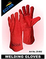 ECCWA Premium Leather Welding Gloves mechanics gloves Pair for men Working gloves best use for Oven Grill-Fireplace BBQ-Coal for heat resistant extreme