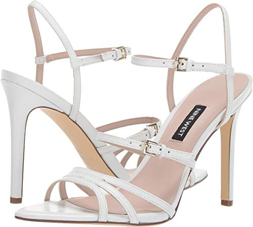 Nine West Womens Gilficco Strappy Sandals White 10 M
