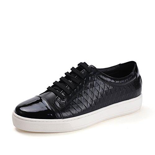 Caída redonda plana/De encaje zapatos de skate Negro