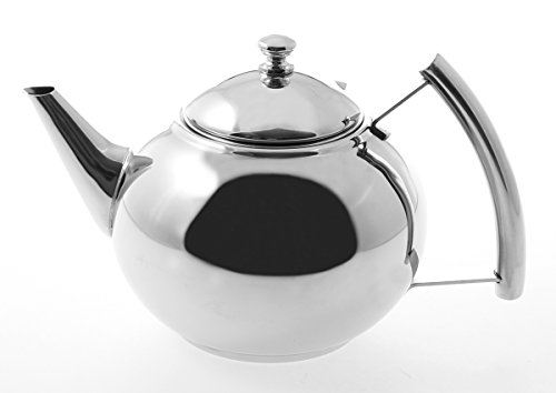 Stainless Steel Teapot Kettle  - 1.5 liter/50 ounce/0.39 Gallon Round Body with ()