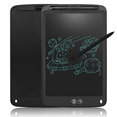 Partial Erase Writing Board Upgrade 11 Inches LCD Tablet with Lock Function Business Memo Pad Magnetic Fridge Notice Daily Planner Doodle Toy for Kids Black (Fridge Memo Pad)