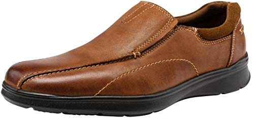 (JOUSEN Men's Loafers Casual Slip On Shoes Lightweight Leather Shoes (14,Yellow Brown))