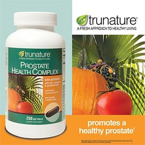 TruNature Prostate Health Complex - Saw Palmetto with Zinc, Lycopene, Pumpkin Seed - 250 Softgels
