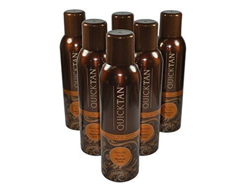 Body Drench Quicktan Quick Tan Bronzing Spray Medium Dark (The Perfect Ultra Bronzing Self-tanner a Fast-drying Formula) - Size 6 Oz / 170g (Pack of 6) ()