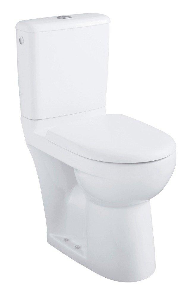 Planetebain-Inodoro con el suelo 4 x 4 PRIMA elevada, con válvula de flotador silenciosa, doble cisterna 3/6L, estándar y salida hori tapa: Amazon.es: ...