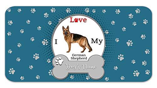 Bleu Reign Personalized Custom Name I Love My Dog German Shepherd 12
