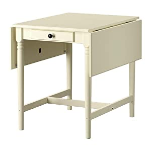 IKEA INGATORP - Drop-leaf table, white - 59/88/117x78 cm