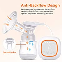 Double Breast Pump Ultra-Quiet Rechargeable Milk Pump for Travel/&Home BPA Free FDA Certified Electric Breast Pump Portable Dual Suction Nursing Breastfeeding Pump with LED Display Touch Screen