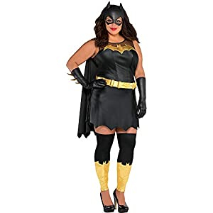 Costumes Usa Batman Batgirl Costume For Women Plus Size Includes A Dress A Mask Gloves Leg Warmers And More