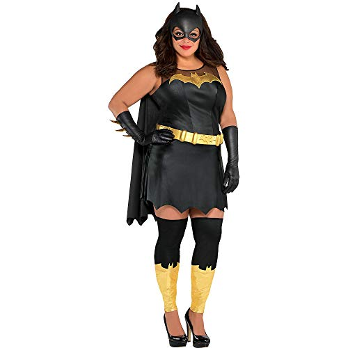 Costumes USA Batman Batgirl Costume for Women, Plus Size, Includes a Dress, a Mask, Gloves, Leg Warmers, and More