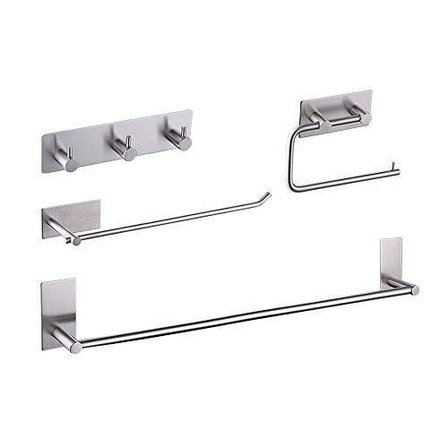 KES SUS 304 Stainless Steel 4-Piece Bathroom Accessory Set R