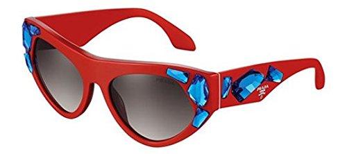 Prada PR21QS Sunglass-SMN/0A7 Red (Gray Gradient - Prada Glasses Red