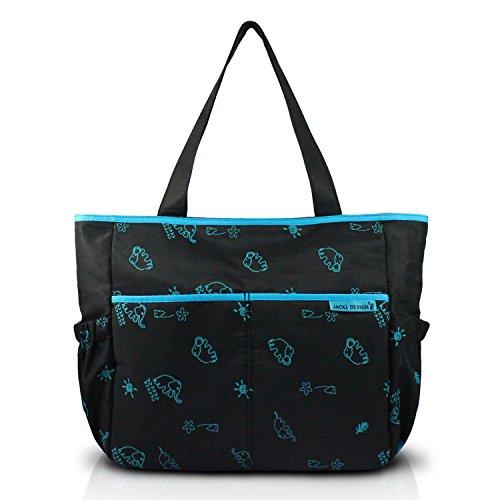 jacki-design-mama-me-collection-animal-print-diaper-bag-black-color-and-blue-details