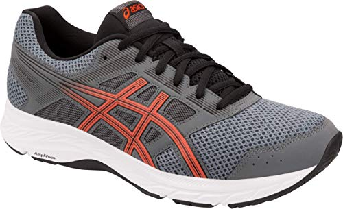 ASICS Gel-Contend 5 Men's Running Shoe, Steel Grey/Red Snapper, 8 D US