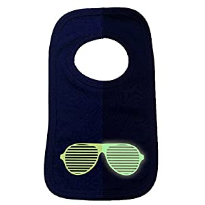 123t Baby Rave Glasses Baby Bib - Red
