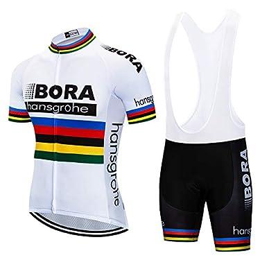 ZHLCYCL-Traje-Ciclismo-Hombre-Maillot-Ciclismo-y-Culotte-Ciclismo-con-5D-Gel-Pad-para-Verano-Deportes-al-Aire-Libre-Ciclo-Bicicleta