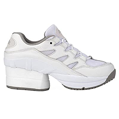 Z-CoiL Pain Relief Footwear Women's Freedom Slip Resistant Enclosed Coil White Leather Tennis Shoe