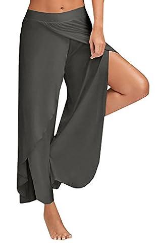Inorin Women's Comfy Chic Tie-Dye Wide Leg Long Palazzo Lounge Loose Pants (Leg Split Dress)