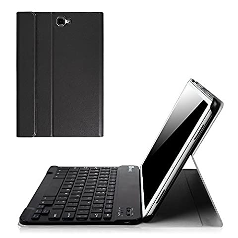 Fintie Samsung Galaxy Tab A 10.1 Keyboard Case, Smart Slim Shell Light Weight Stand Cover with Magnetically Detachable Wireless Bluetooth Keyboard for Tab A 10.1 Inch NO S Pen Version Tablet, (Cover De Samsung Tab)