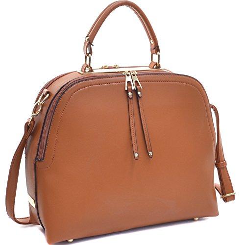 dasein-womens-classic-buffalo-pu-leather-domed-satchel-handbag-work-bag-shoulder-bag-with-shoulder-s