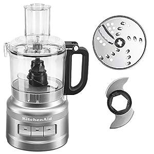KitchenAid KFP0718CU 7-Cup Food Processor Chop, Puree, Shred and Slice – Contour Silver