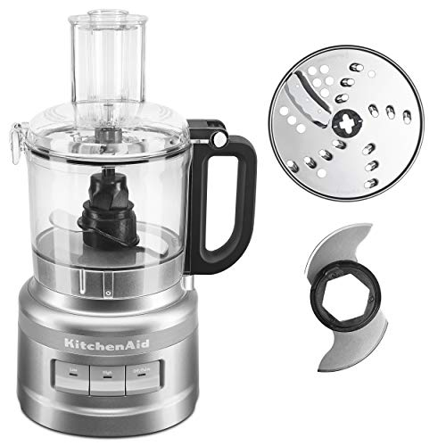 KitchenAid KFP0718CU 7-Cup Food Processor Chop, Puree, Shred and Slice - Contour Silver (Food Processor 7 Cup Cuisinart)