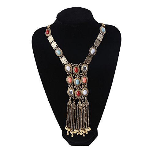 Paxuan Antique Turquoise Necklace Statement