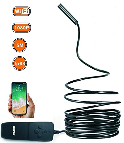 USB Endoscope, Lisin 5M Wireless HD 1080P Waterproof