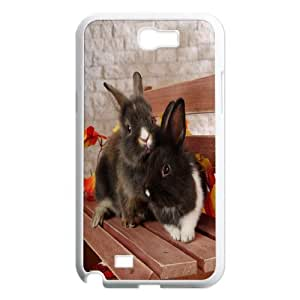 Samsung Galaxy Note 2 N7100 Rabbit Phone Back Case Personalized Art Print Design Hard Shell Protection LK061681