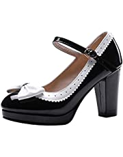 Melady Women Shoes Sweet Bow Pumps Ankle Strap