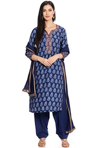 BIBA Women's Straight Cotton Suit Set 42 - Suit Cotton Salwar
