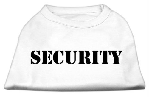 Mirage Pet Products 8-Inch Security Screen Print Shirts for Pets, X-Small, White with Black Text by Mirage Pet Products