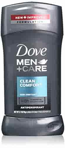 Dove Men+Care Antiperspirant Clean Comfort 2.7 oz, Pack of 6