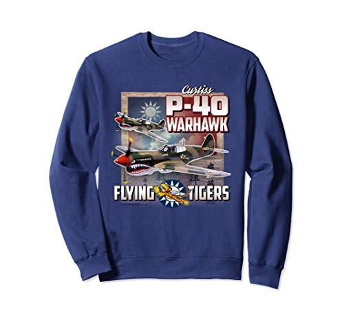 Aviation Sweatshirt: P-40 Warhawk Flying Tigers WWII