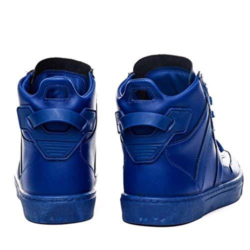 Of Arish Pelle 43 Blu Coll Nuovo Uomo Sneakers Scarpa 2017 New Stivaletto Scarpone Scarpe Taglia Alte qwxa8rAq