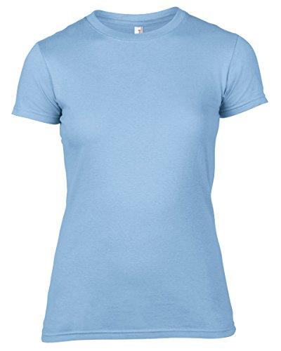 Anvil - Camiseta - para mujer azul claro