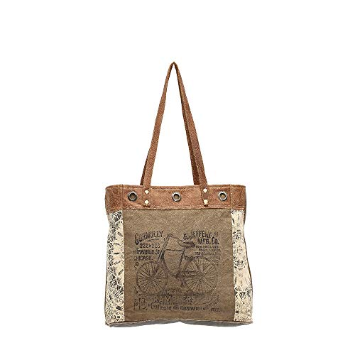 Myra Bags Bicycle Upcycled Canvas Tote Bag S-0935 (Bicycle Tote)