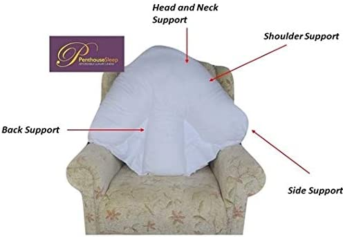 Batwing Orthopaedic Back Neck Support Cushion Pillow with Pillowcase