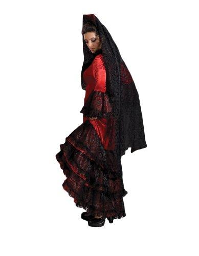 Women's Red Spanish Dancer Costume, Medium (Adult Spanish Dancer Costume)