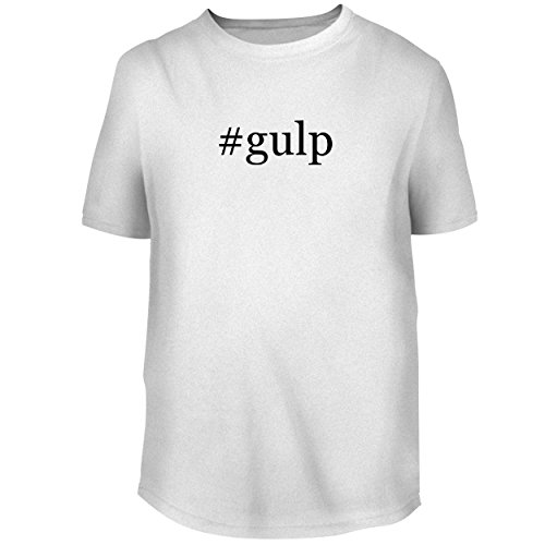 (BH Cool Designs #Gulp - Men's Graphic Tee, White, X-Large)