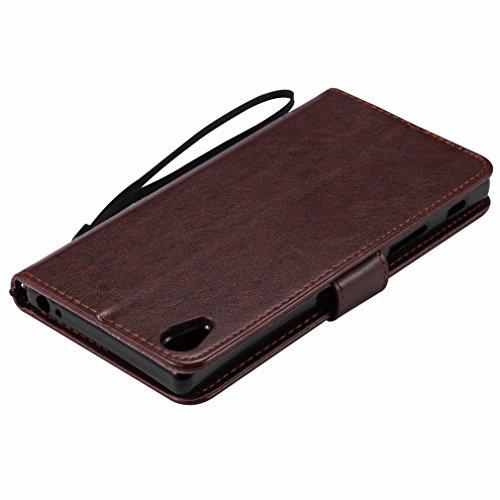Custodia Sony Xperia Z5 Premium Cover Case, Ougger Alberi Gatto Printing Portafoglio PU Pelle Magnetico Stand Morbido Silicone Flip Bumper Protettivo Gomma Shell Borsa Custodie con Slot per Schede (Ma