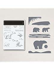 Polar Bear Stamps and Dies for Card Making Winter Christmas Cliff Dies Coordinate Rubber Clear Stamp for DIY Scrapbooking Paper Crafting Arts Crafts Scrapbooking Supplies Die Cuts Punch Template Mould