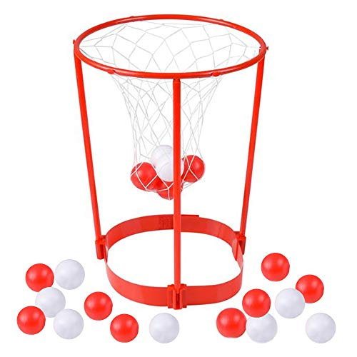 ArtCreativity Head Hoop Basketball Party Game for Kids and Adults | Adjustable Basket Net Headband with 20 Balls | Fun Gift Idea, Birthday Activity, Carnival Ball Game for Boys and Girls