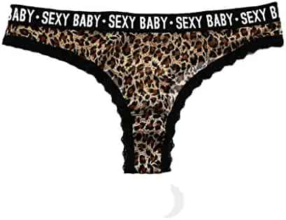 41a0d613948 Lmx+3f Fashion Women Sexy Tempting Letter Lace Leopard Print Underpant  Lingerie Seamless Underwear G