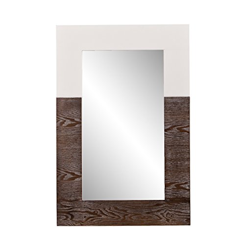 - Southern Enterprises Holly & Martin Wagars Mirror - Burnt Oak/White