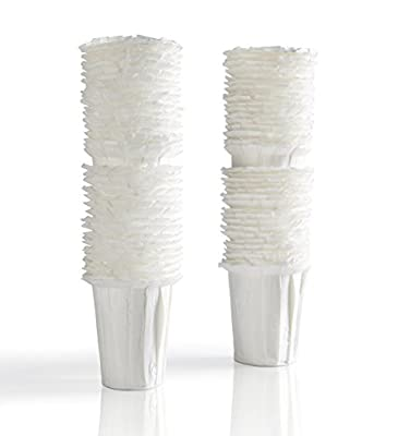 Premium Coffee Disposable Filters for K-Carafe Reusable Filter, Set of 100