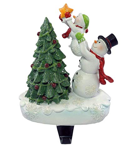Party Explosions Snowman Family Decorating Tree Christmas Stocking Holder -