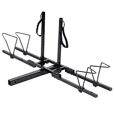 """zwan 2"""" Heavy Duty 2 Bicycle Hitch Mount Carrier with Ebook"""